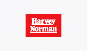 Logo of Harvey Norman one of the sponsors of Paralympics Australia