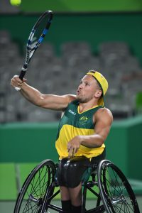 Image of Dylan Alcott in action
