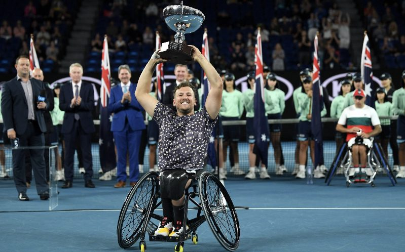 Six in a row for Dylan Alcott at Melbourne Park
