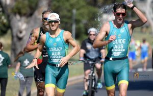 Image of Australian para-triathletes in action