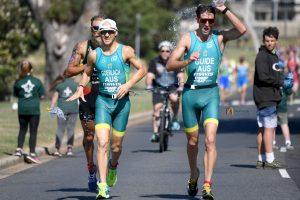 Image of Australian para-triathletes in action