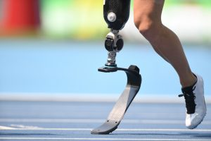 Image of a running blade and a leg