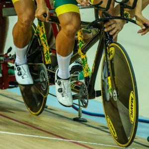 Image of athletes in a cycling race
