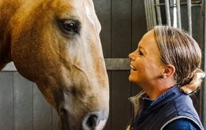 Image of Victoria Davies with her stallion Celere