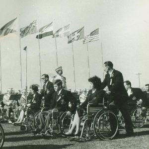 Old image of 1964 opening ceremony