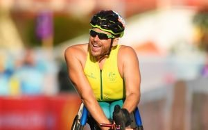 kurt fearnley smiling after a race