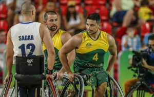 Australian wheelchair basketball players