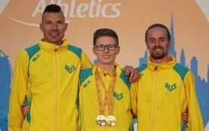three australian male paralympians smiling
