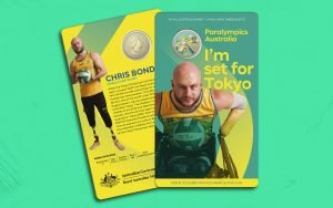 Image of Australian Paralympic coin released by Australian Mint