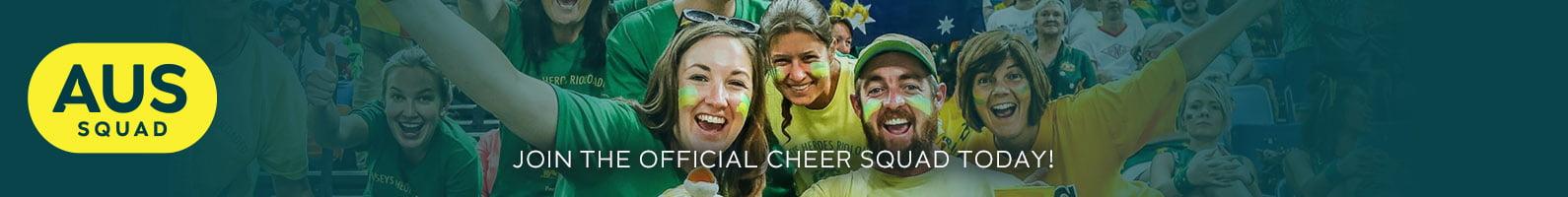 Australian fans cheering