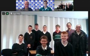 zoom call with students and two male paralympians