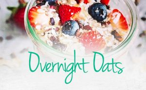 Image of overnight oats in a glass jar