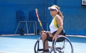 Female wheelchair tennis player