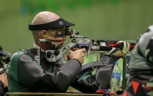 Anton Zappelli shooting at the Rio 2016 Paralympic games