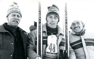 Ron Fineran and Blomvist and Grunnsund at Paralympic winter games
