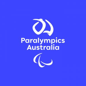 Paralympics Australia logo on a blue background