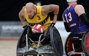 Image of Australian male wheelchair rugby player