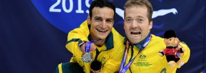 Paralympians Ahmed Kelly and Grant Patterson