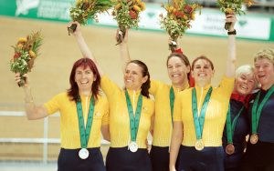 Sydney 2000 women's one kilometre time trial tandem gold, silver and bronze medallists from Sydney 2000 Paralympic Games