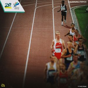 Image of East Timor athlete Alcino Pareira competing at the Sydney 2000 Paralympic Games