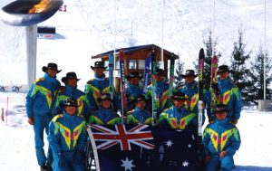 Image of the 1992 Australian Paralympic Winter Games Team in Albertville