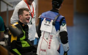 Image of Australian Paralympian Glen McMurtrie with Tokyo Olympian Alex Hoberg