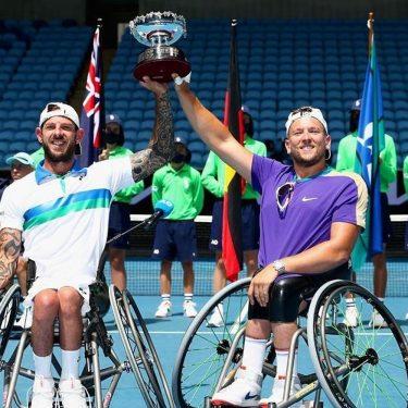 Alcott and Davidson celebrate fourth Australian Open triumph
