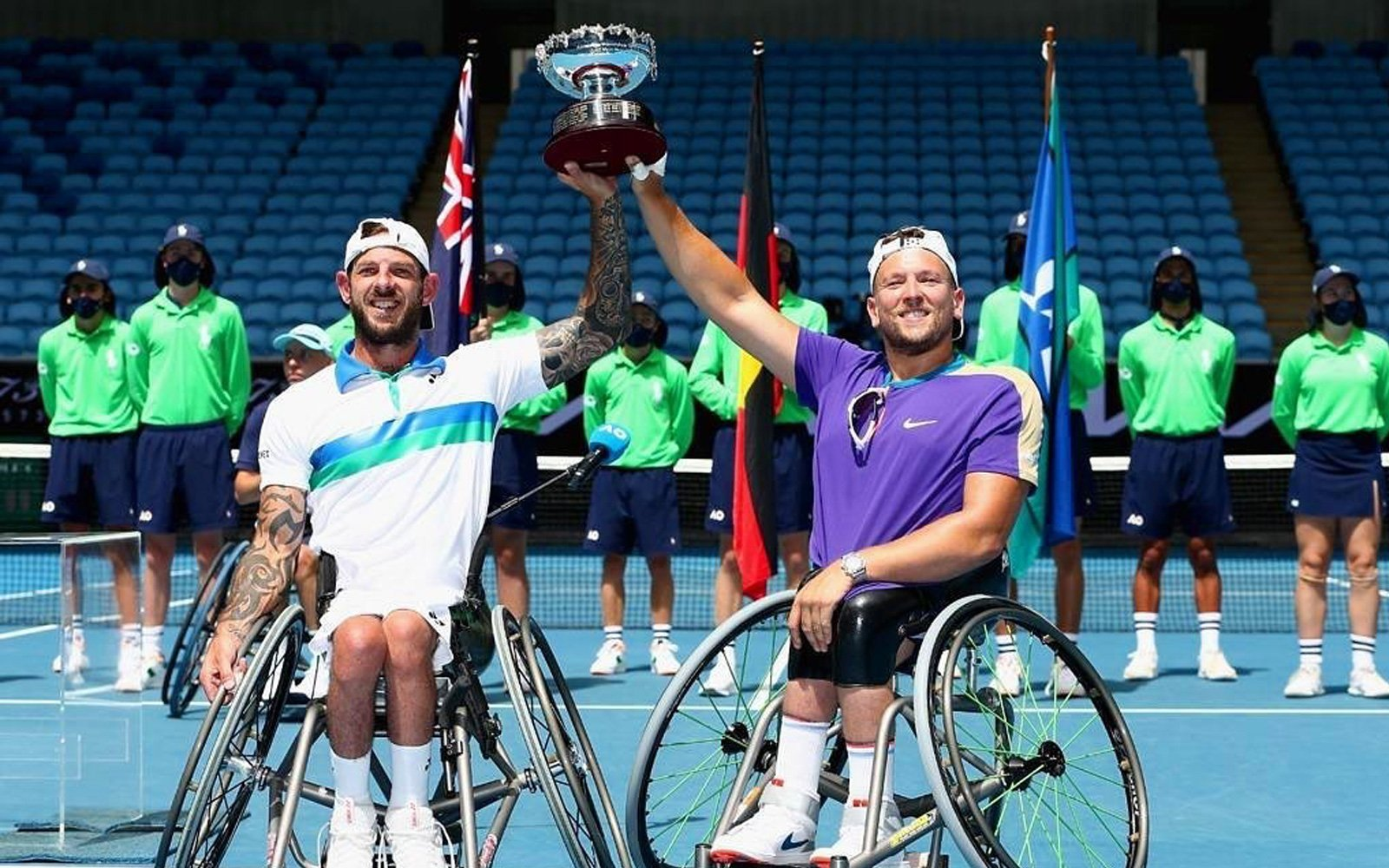 Alcott and Davidson celebrate fourth Australian Open triumph