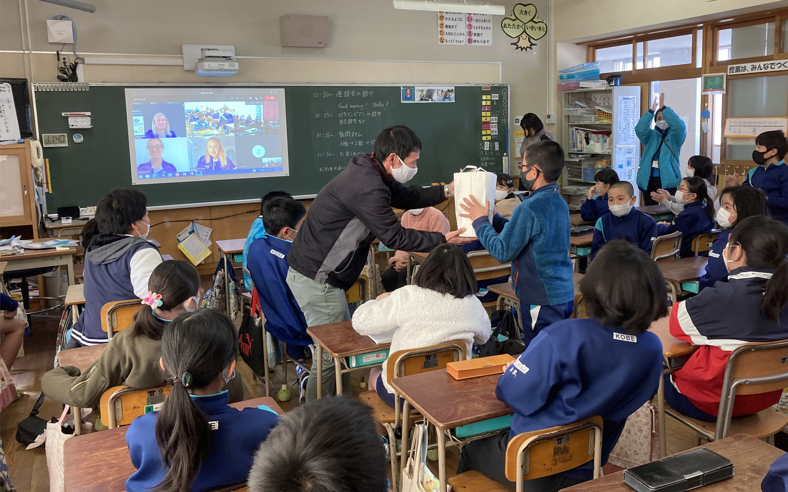 Japanese Schoolkids Enthralled By Aussie Paralympians' Stories