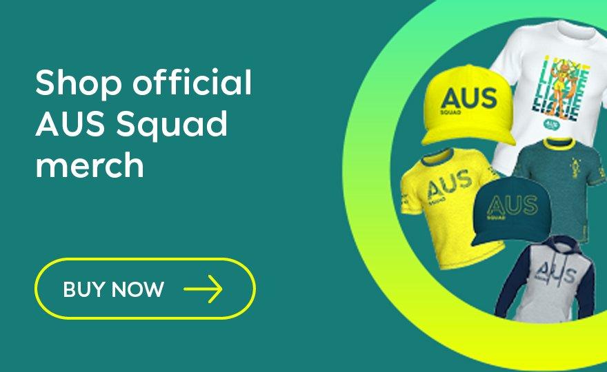 Shop official AUS Squad merch